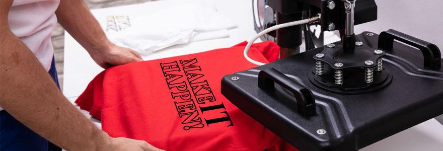 Impression personnalisée de t-shirts